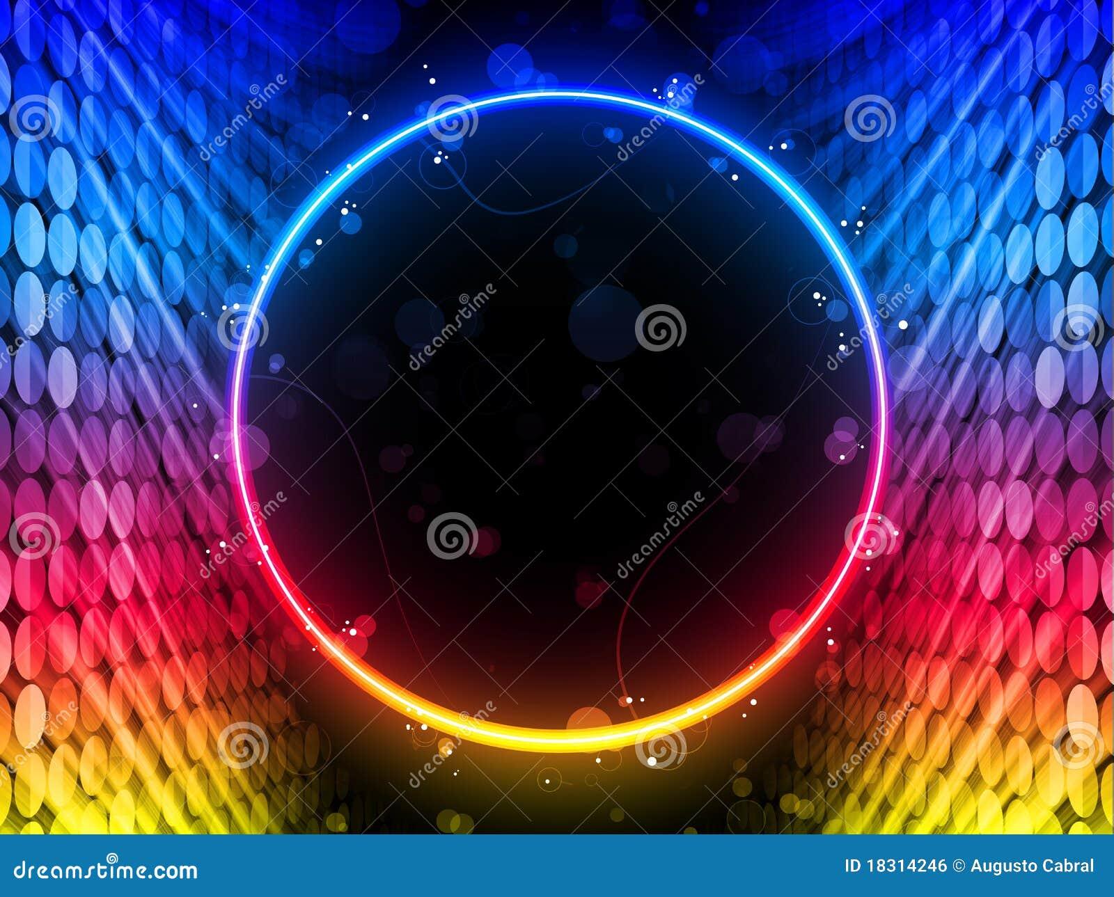 Disco Circle Box on Black Background