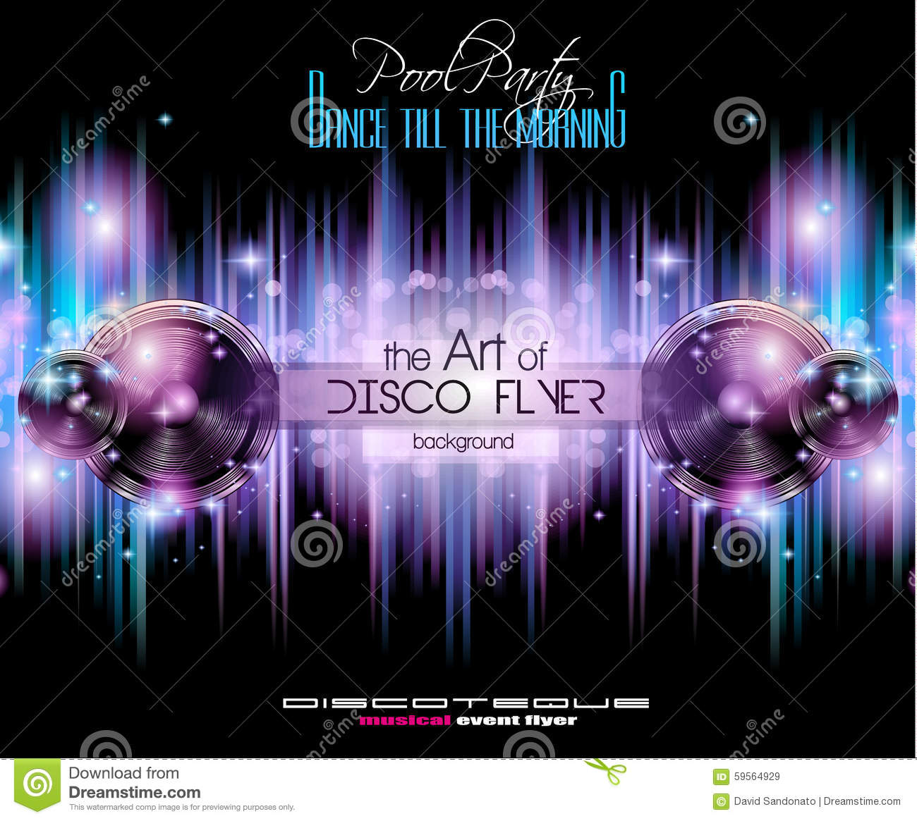 Disco Club Flyer Template For Your Music Nights Event