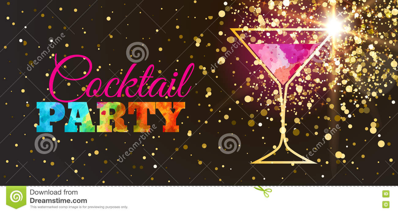 Cocktail Party Invitations with awesome invitation template