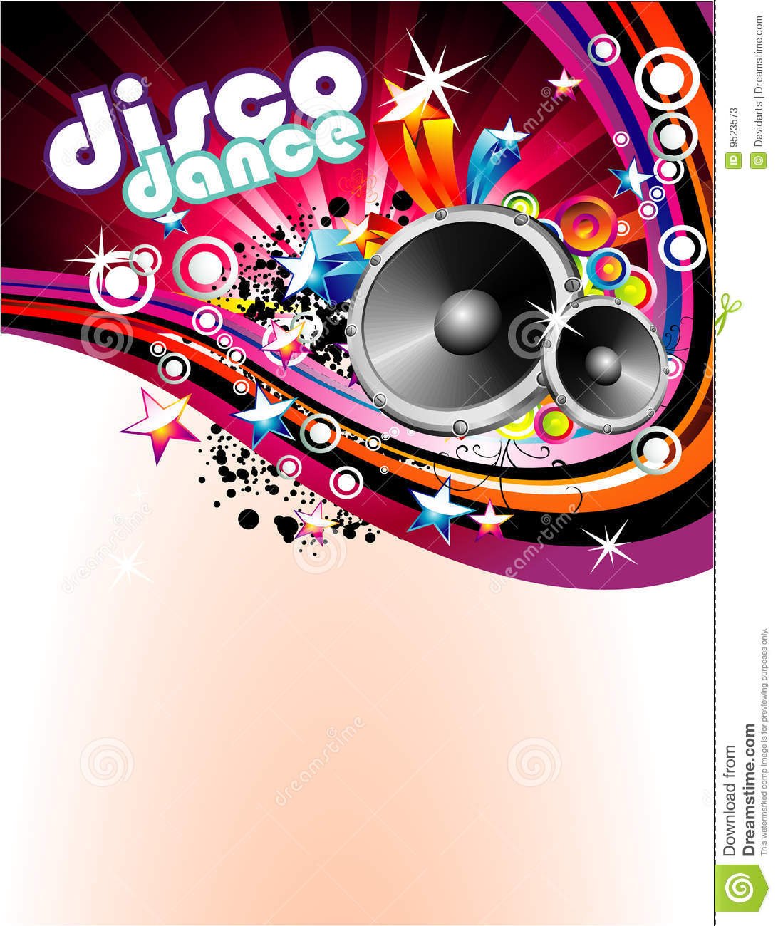 disco colorful flyer background stock vector illustration of club