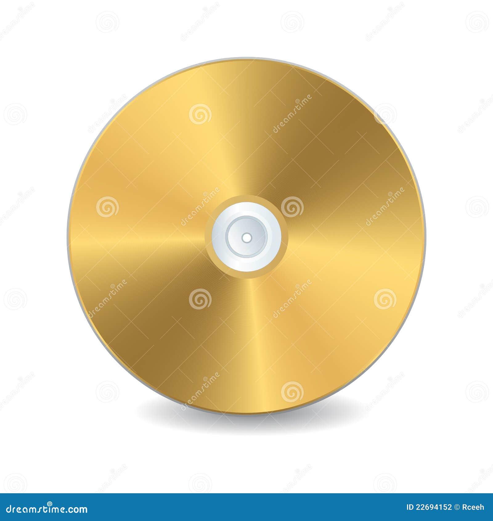 Disco compacto dourado