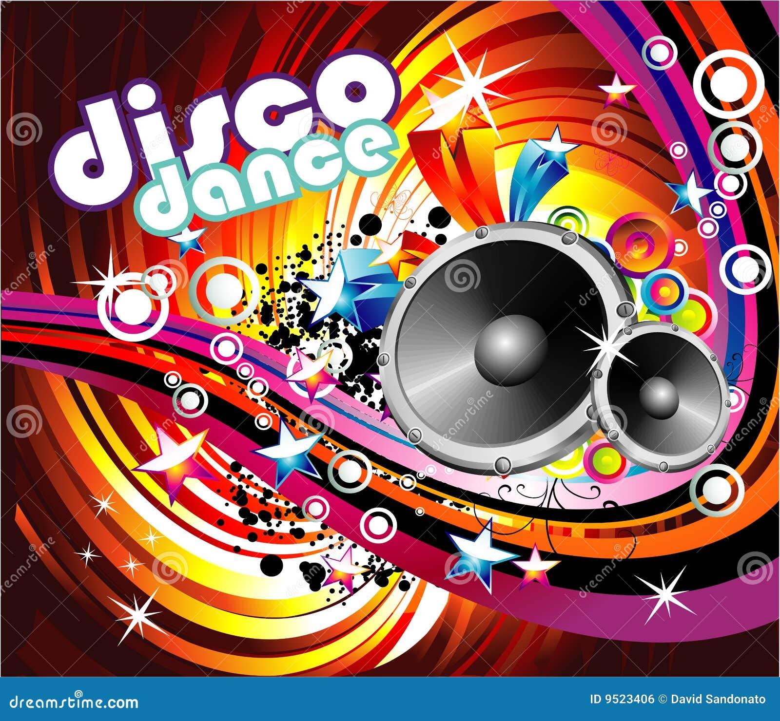 Disco Dance Background stock vector. Illustration of light ...