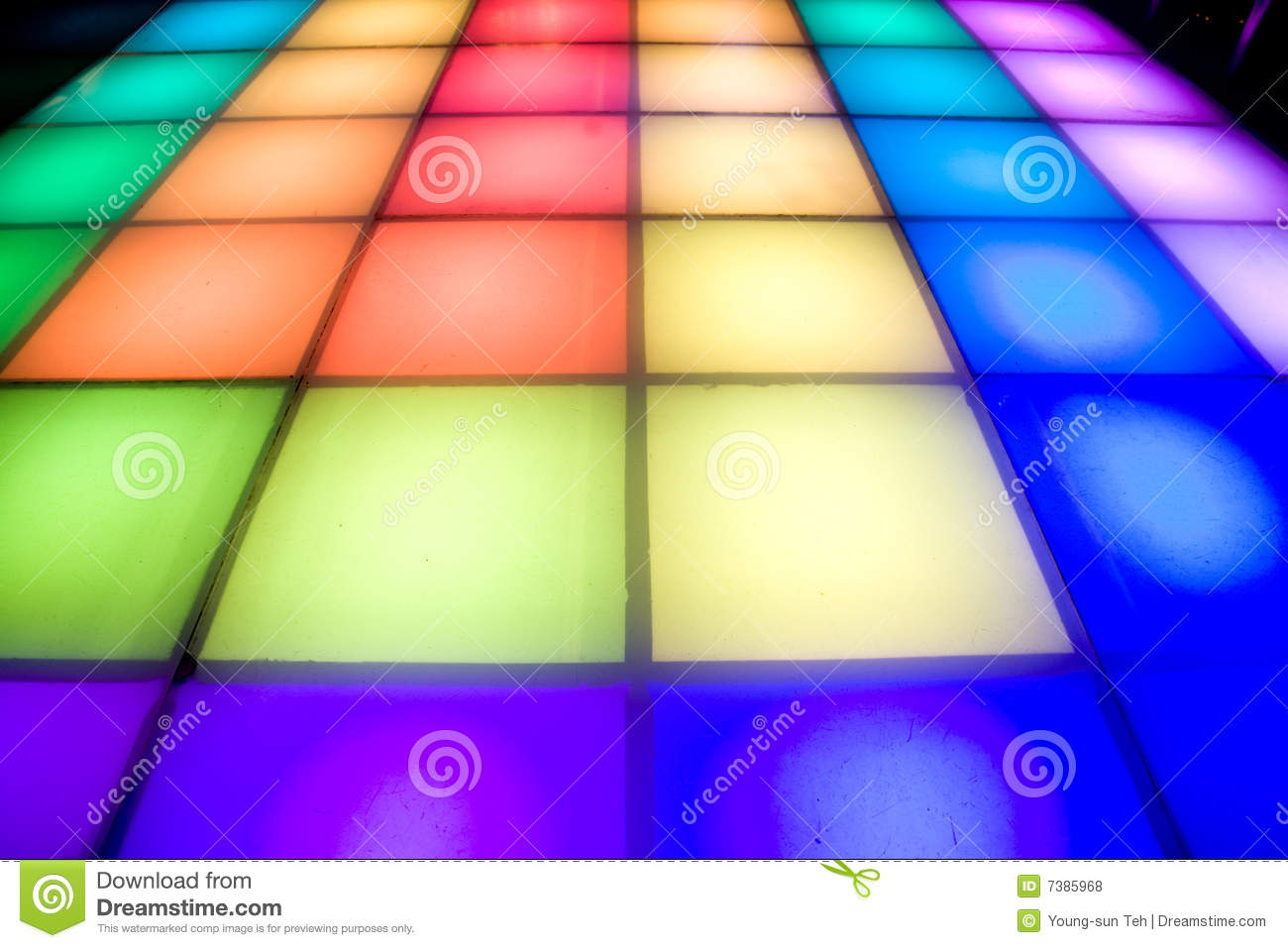 Royalty Free Stock Photos: Disco dance floor with colorful lighting