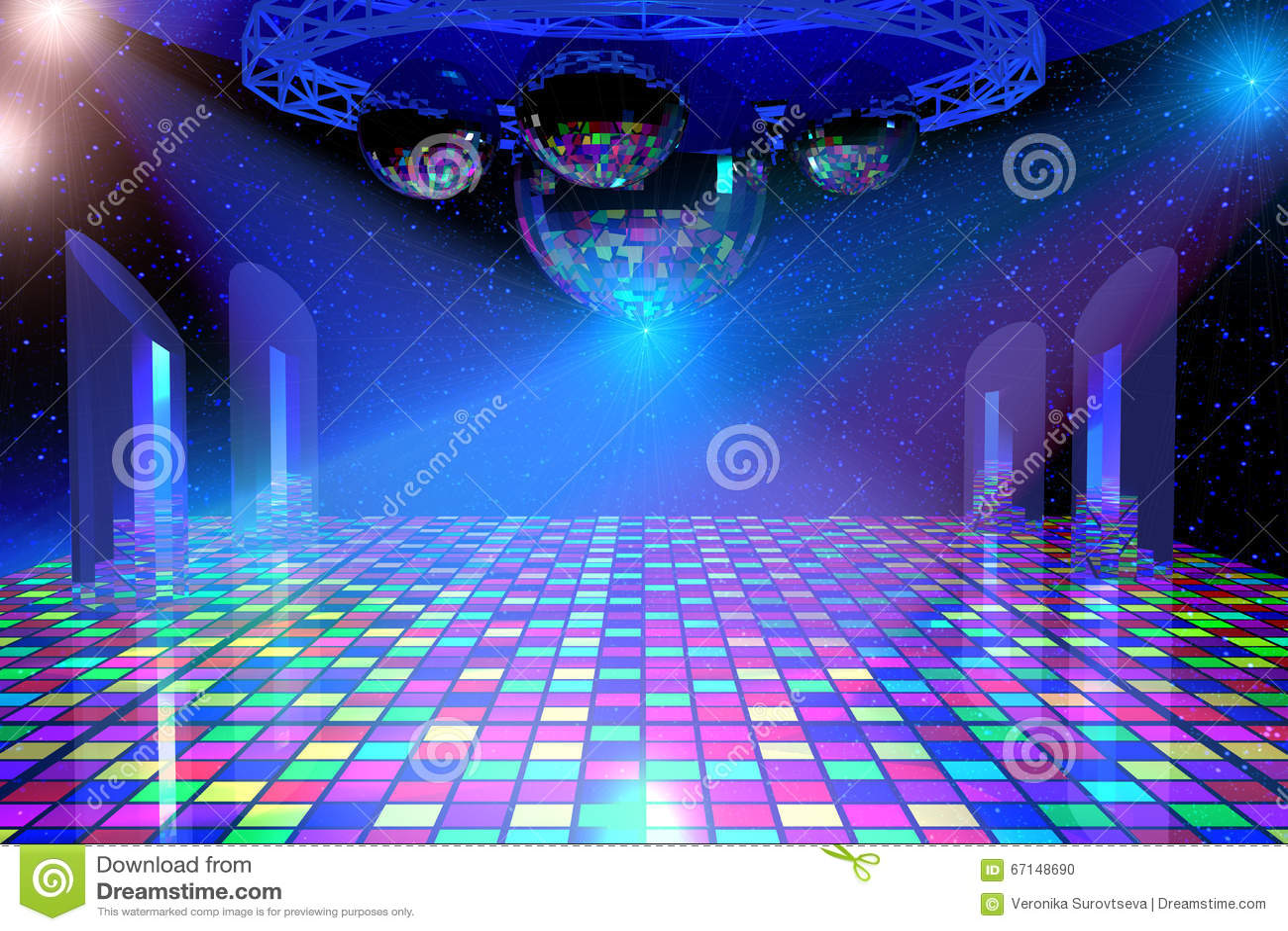 Disco Dancing Background Stock Illustration Illustration