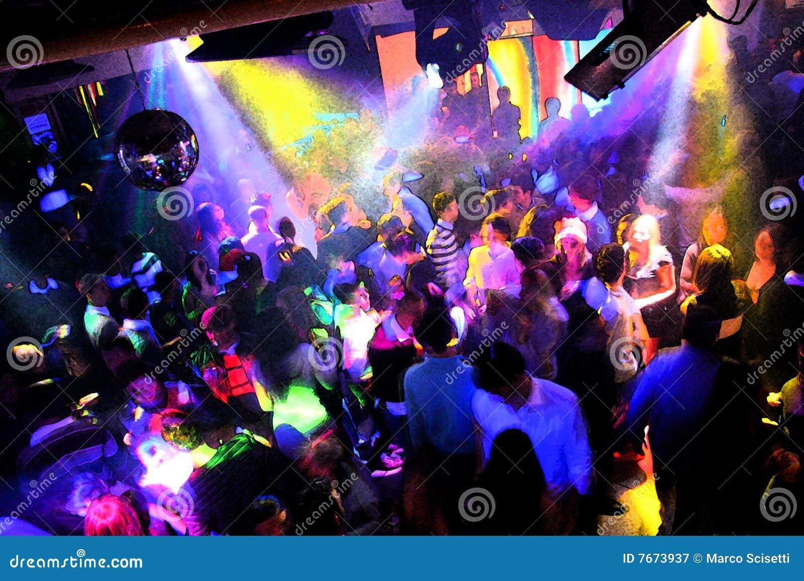 Disco Dancing People Stock Image Image Of Slow Night