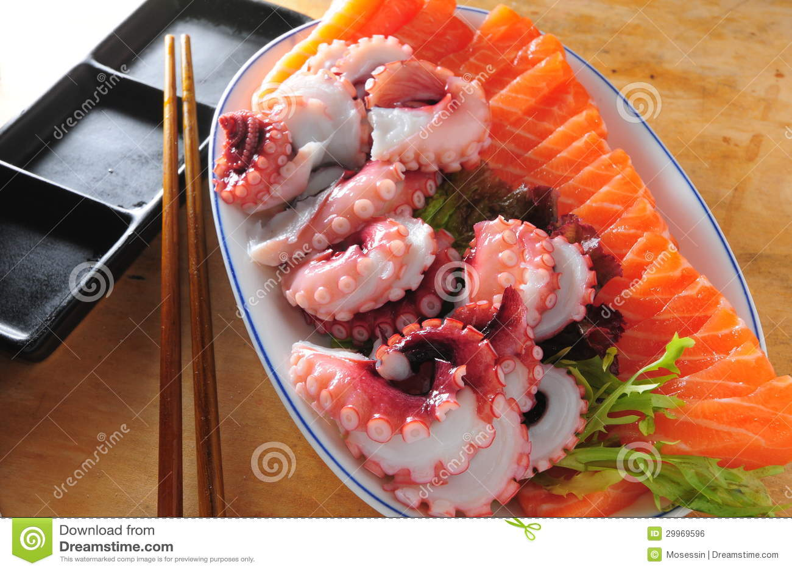 Disco japonés del sashimi