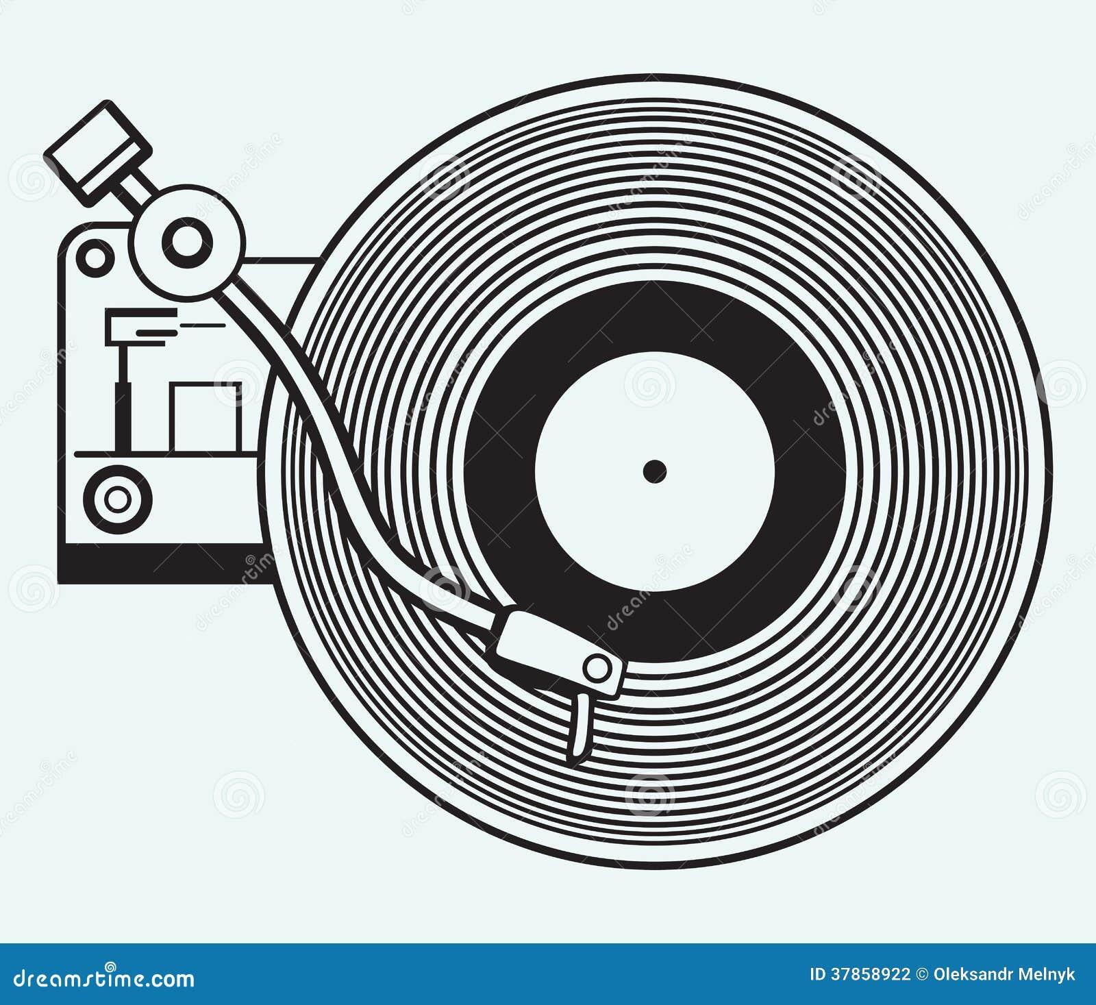 Disco de vinilo del tocadiscos