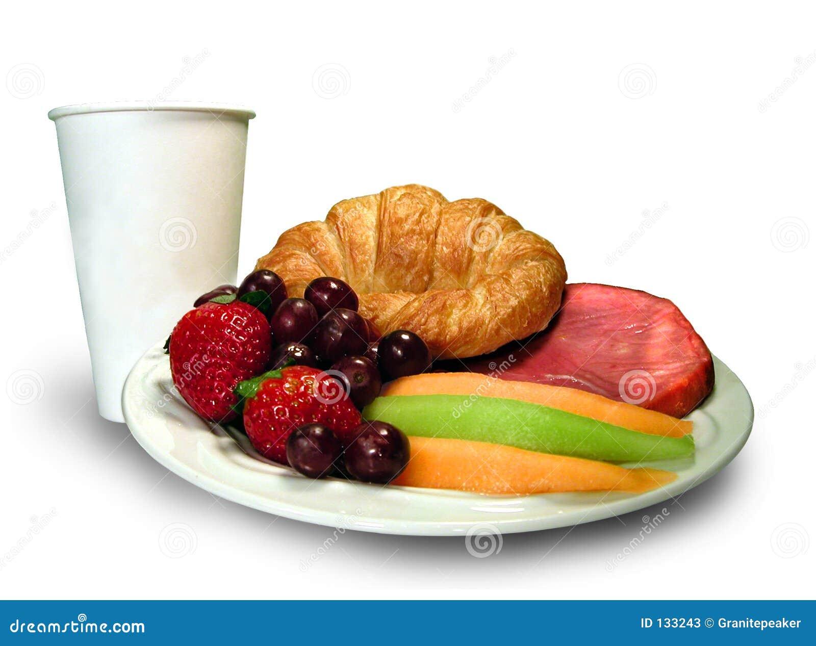 Disco del desayuno con la taza