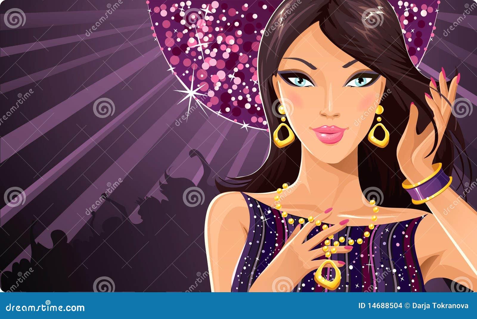 Disco diva stock vector illustration of fashion golden - Discoteca diva ispra ...