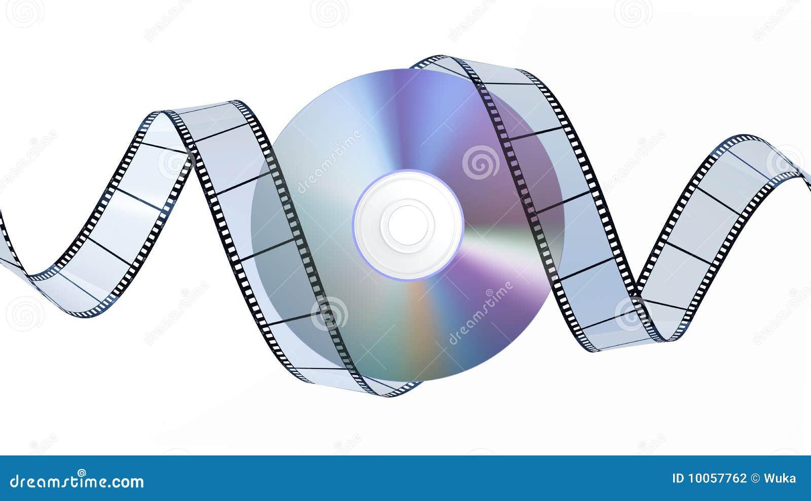 Disco e filmstrip de DVD