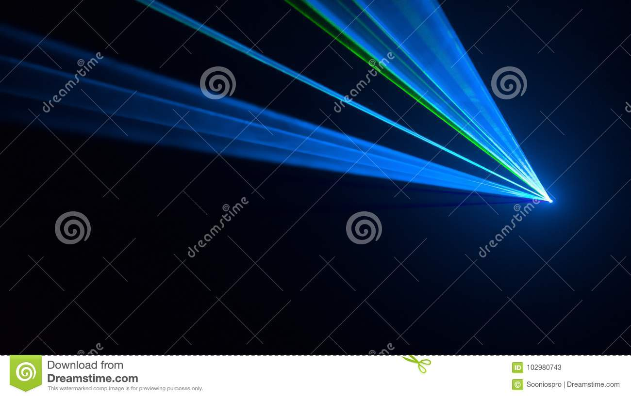 Disco Laser Light Seen From The Side Stock Image - Image of