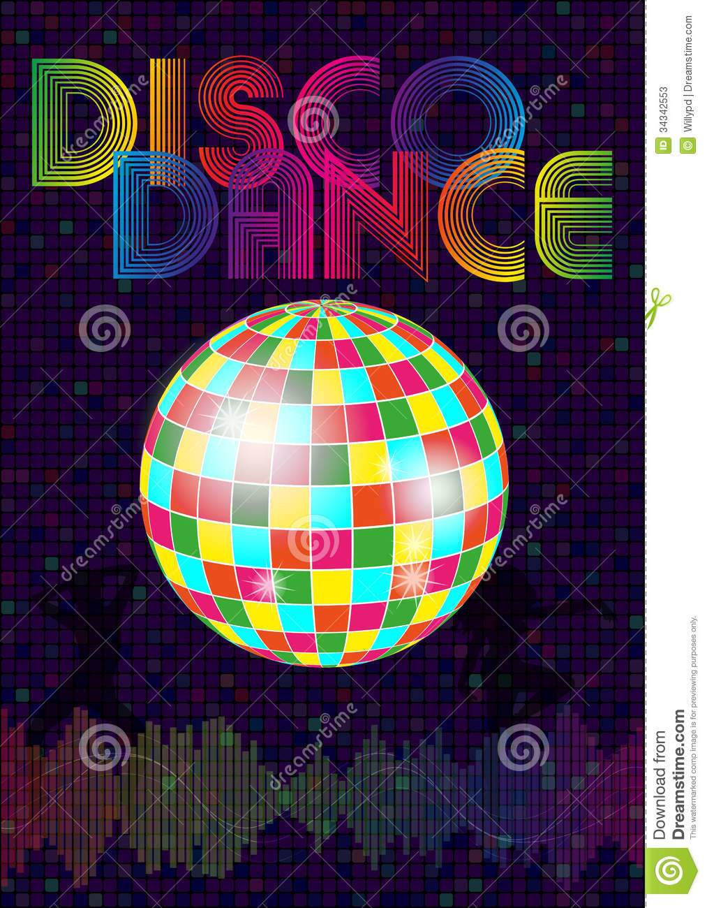 Disco Music Stock Vector Image Of Background Bass