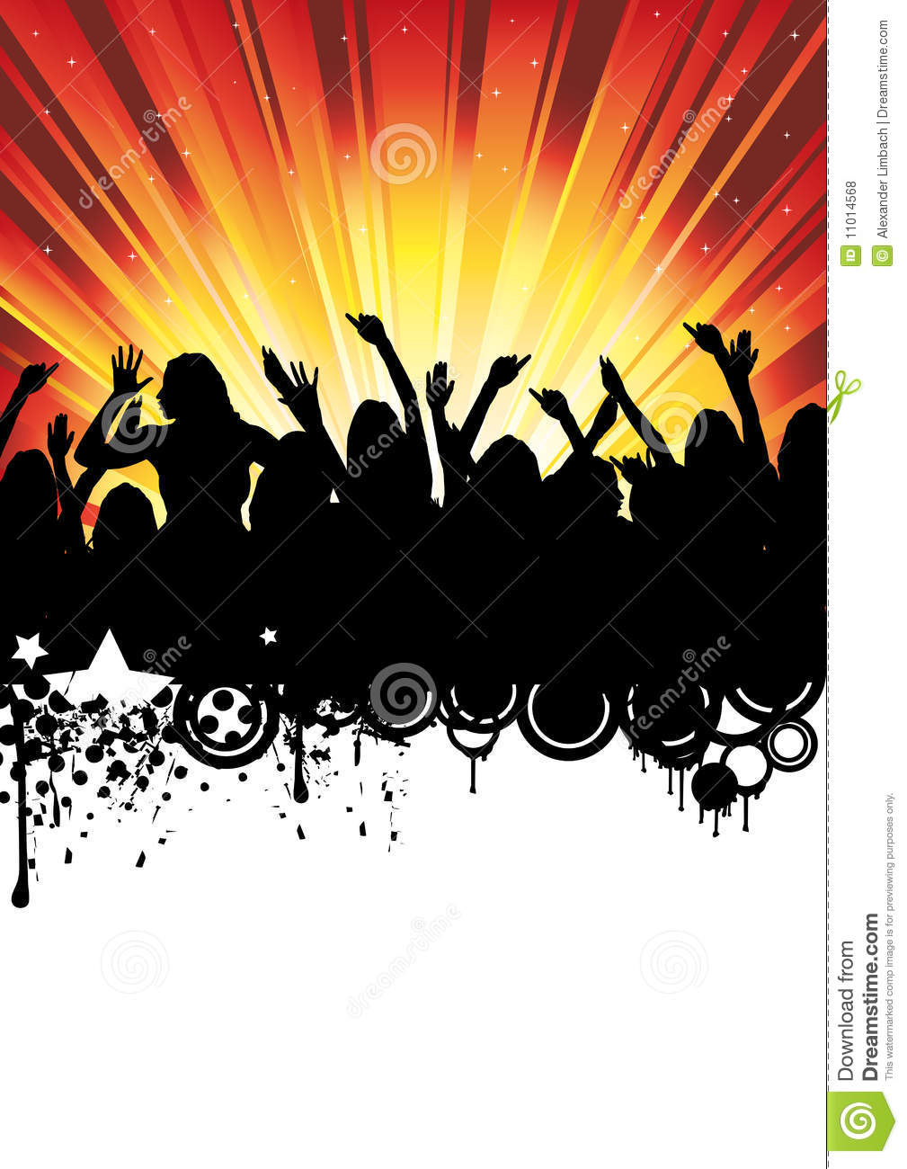 Disco Music Party Flyer Dancing People Royalty Free Stock Photos ...