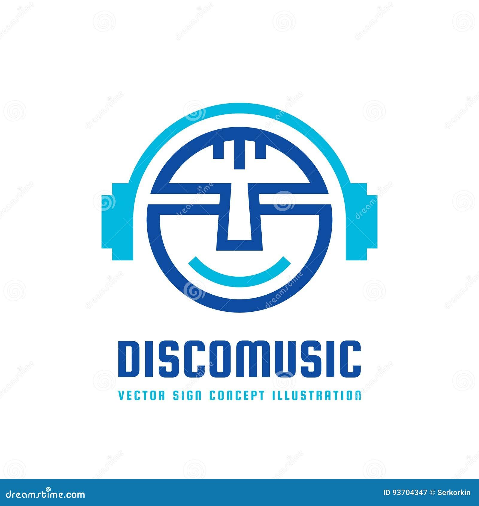 Disco Music - Vector Logo Concept Illustration In Flat Style Design