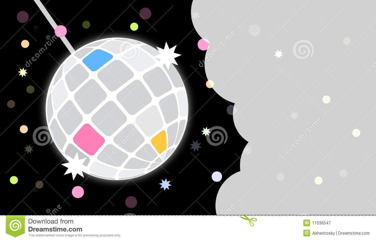 Disco Party Invite Card Template Stock Vector - Image: 11036547