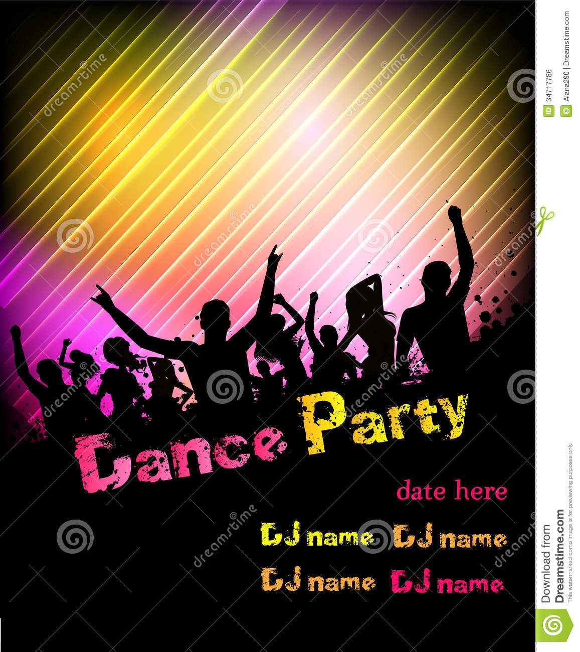 Disco Party Poster Background Royalty Free Stock Image - Image ...