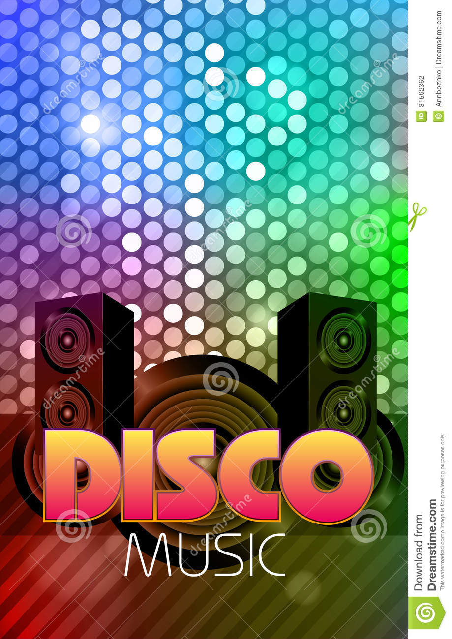 disco poster  abstract background stock photography