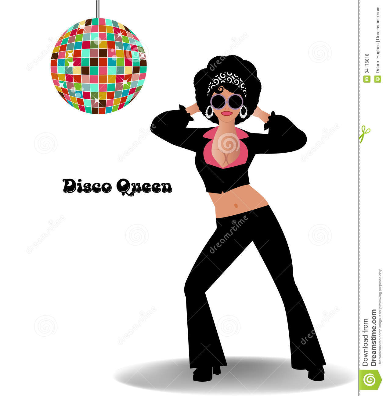 Disco Queen Royalty Free Stock Photos - Image: 34176818
