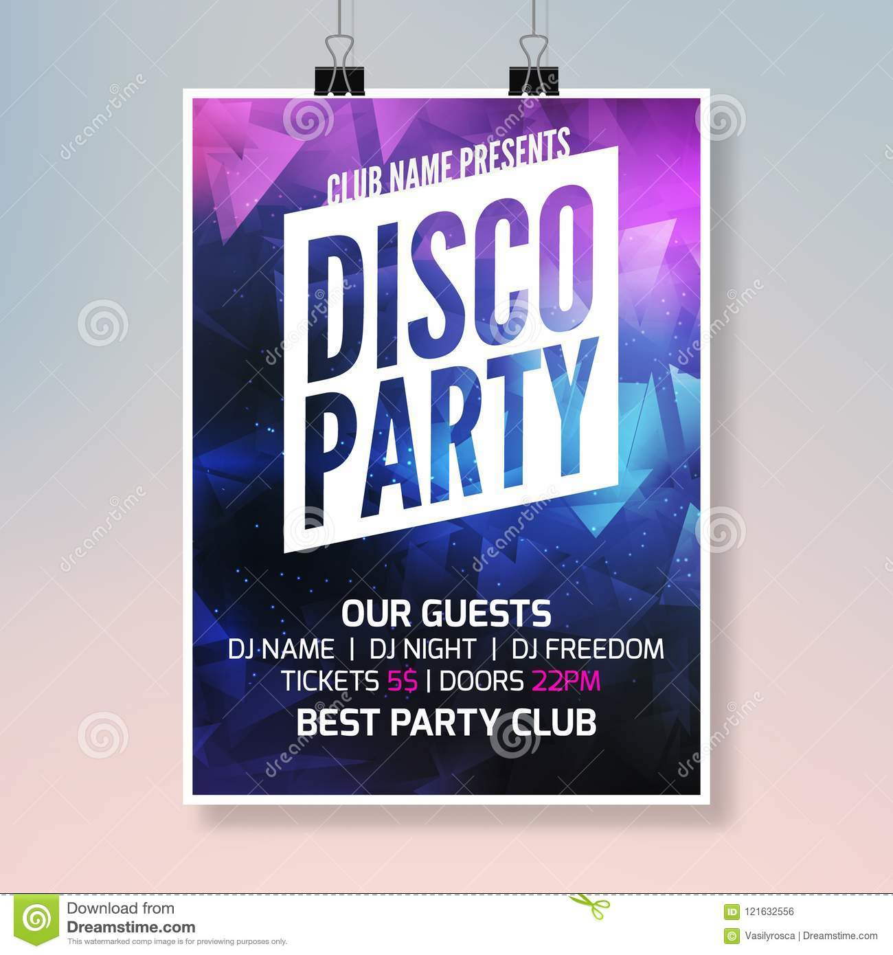 Disco Sound Music Party Template, Dance Party Flyer