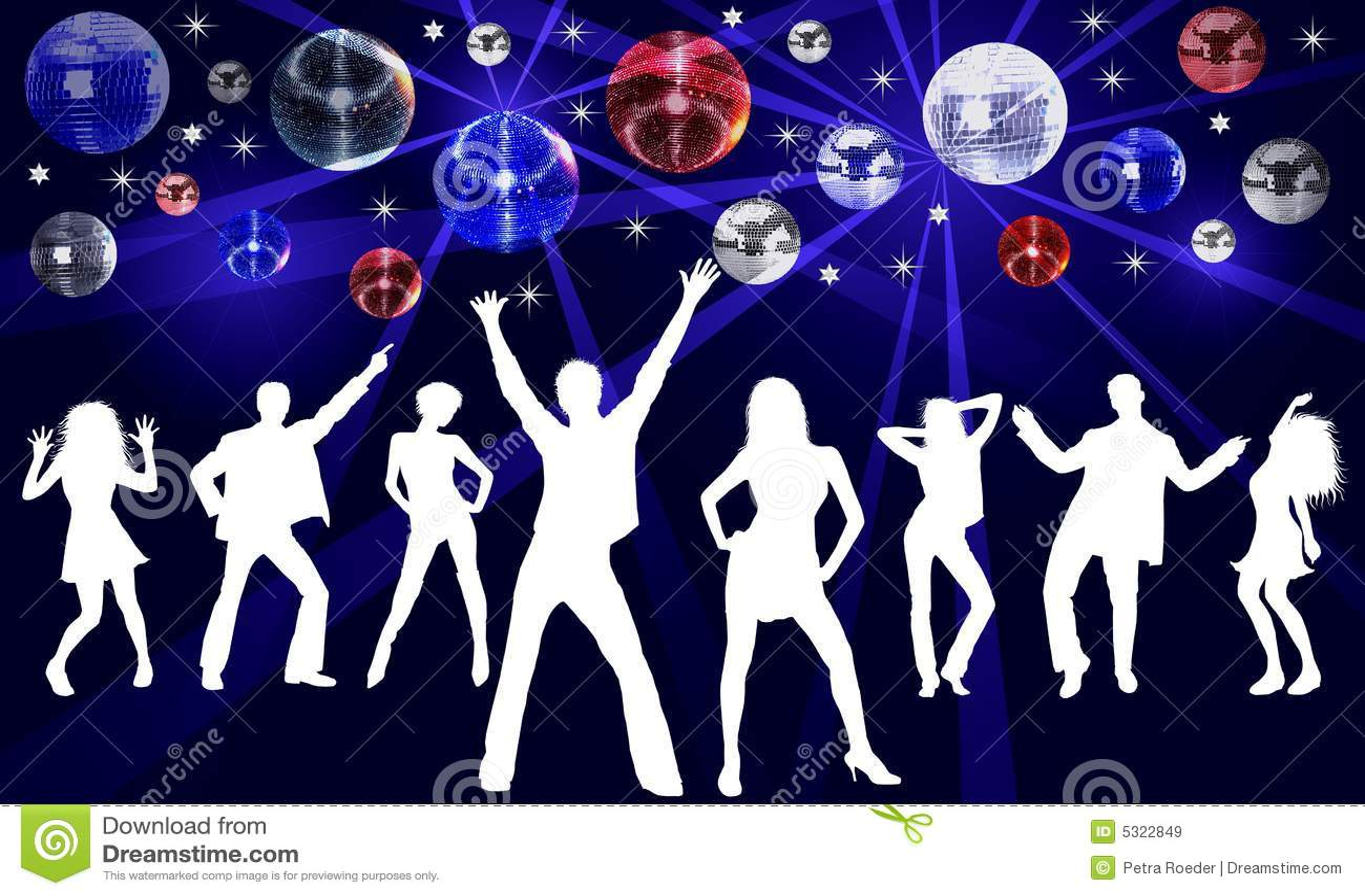 Disco Tanzen Abbildung Stock Abbildung Bild Von Viele