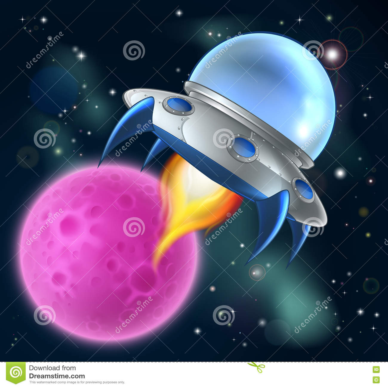Disco volante straniero dell astronave del fumetto