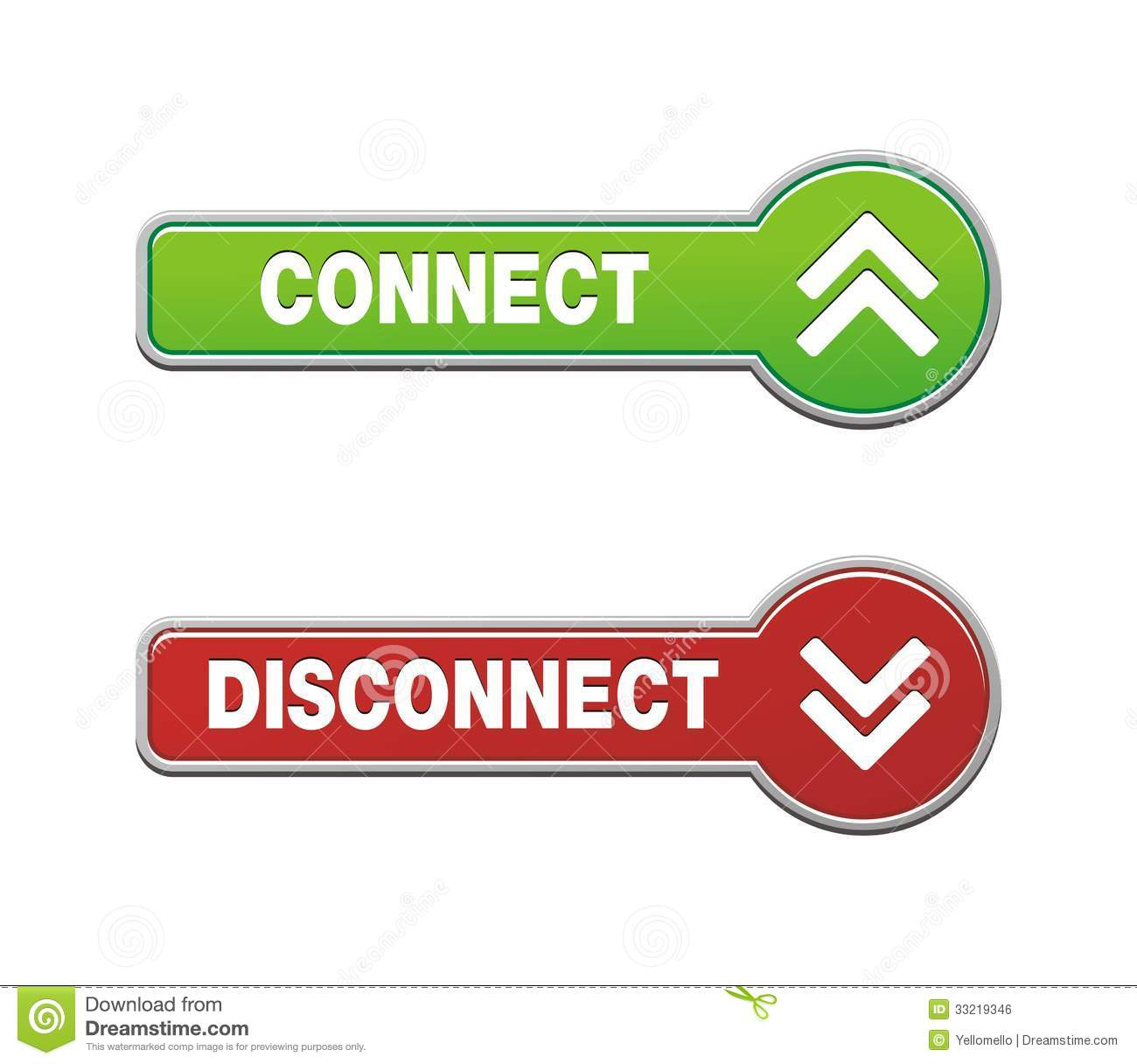 Disconnect Connect Button Sets Royalty Free Stock Image