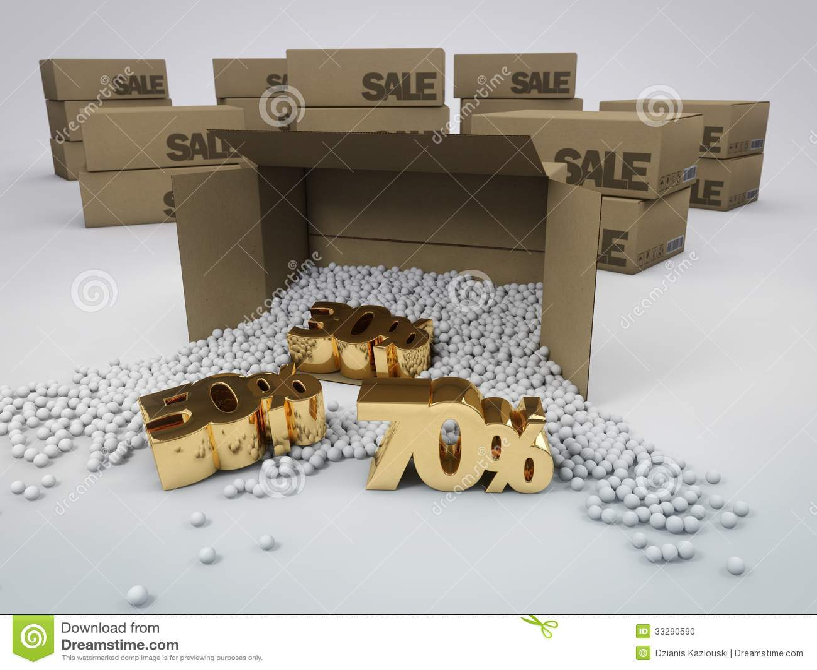 Discontos em umas caixas