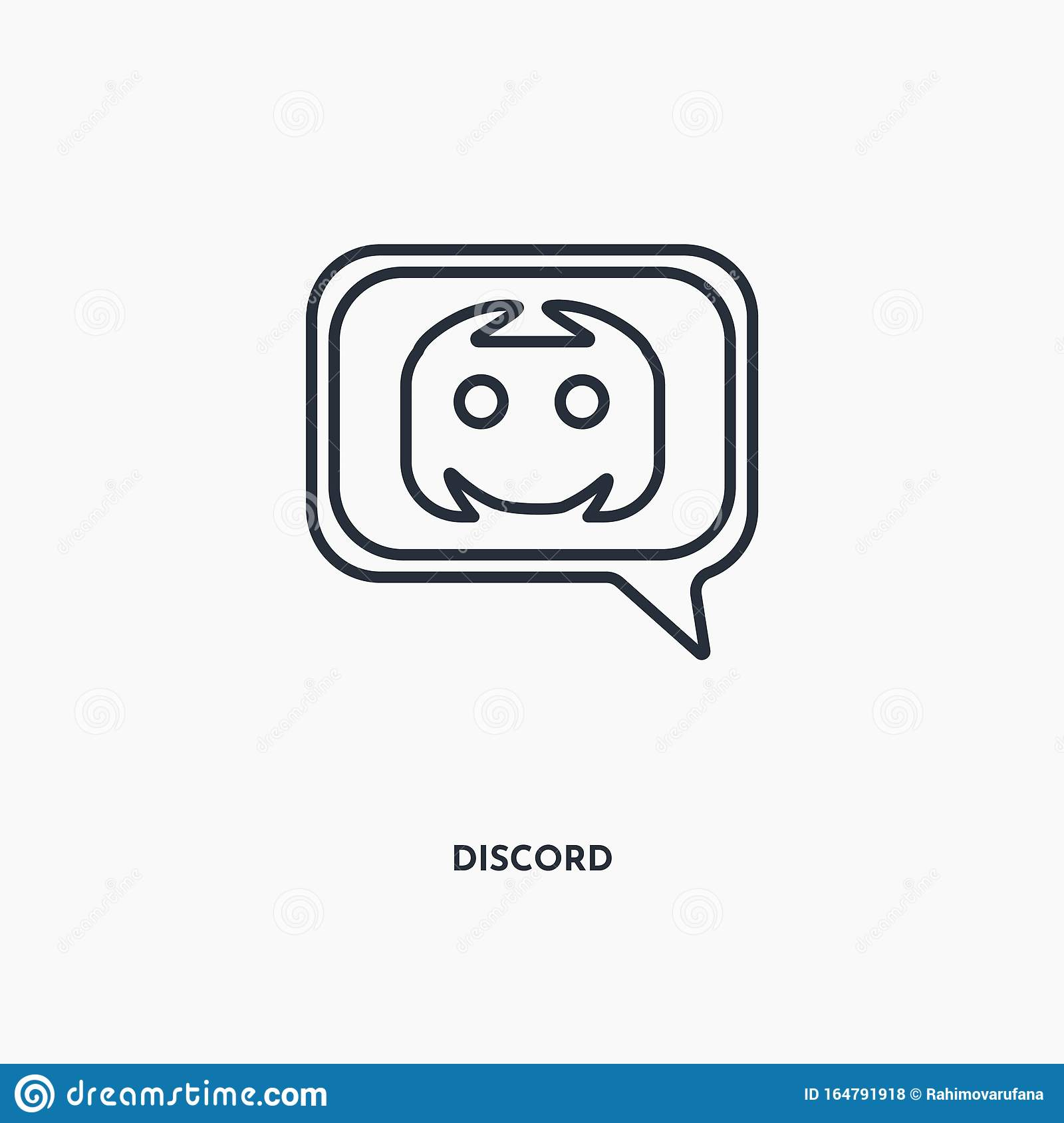 Discord Outline Icon Simple Linear Element Illustration Isolated