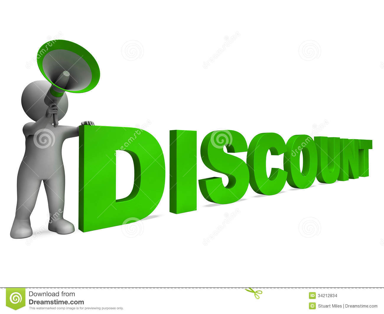 Discount Character Shows Sale Offer And Discounts Stock Images - Image ...
