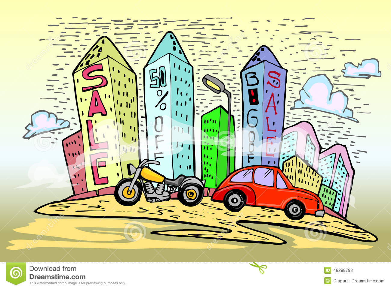 Discount city stock vector image 48288798 Motor city car sales