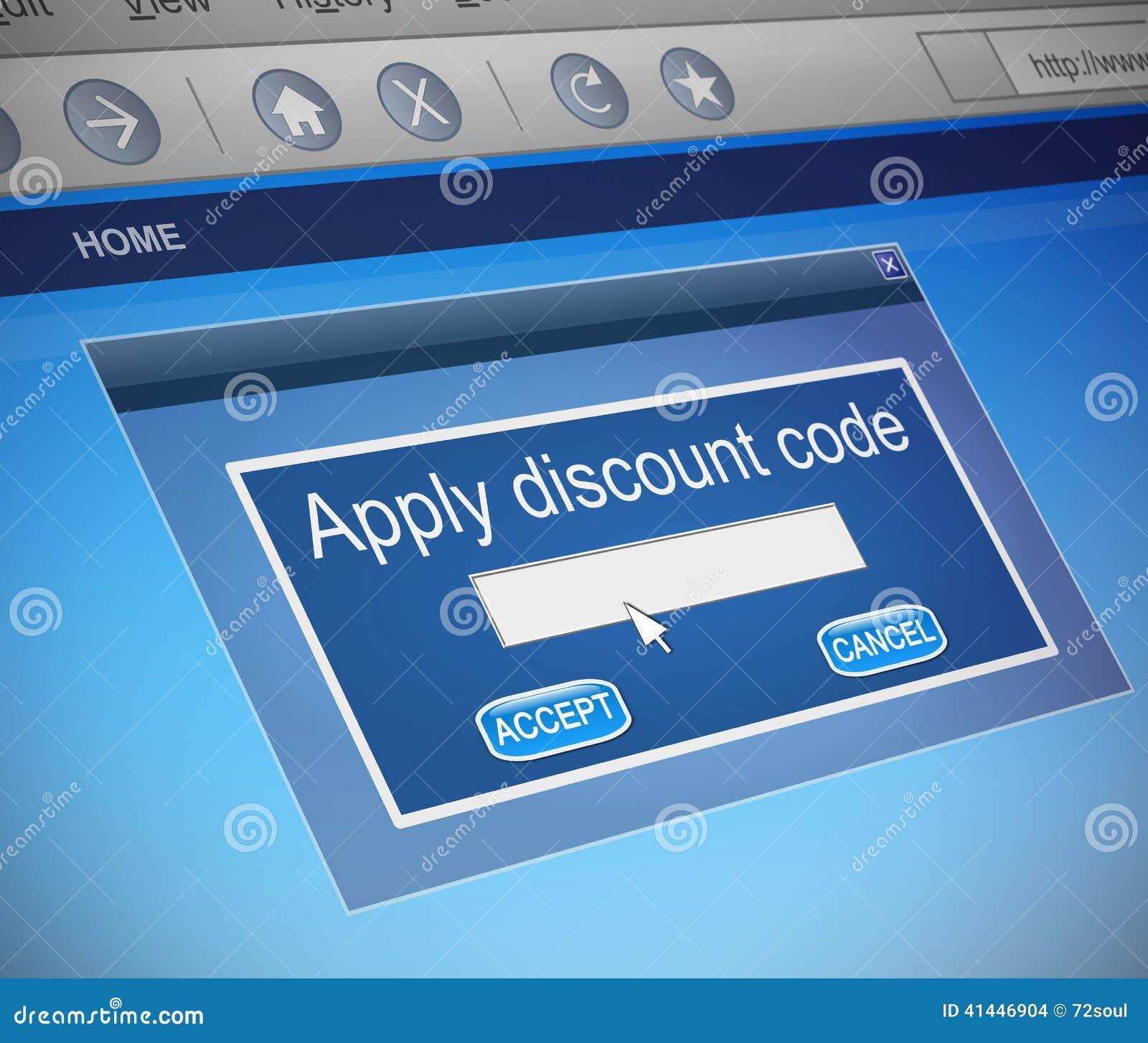 discount code concept stock illustration image 41446904. Black Bedroom Furniture Sets. Home Design Ideas