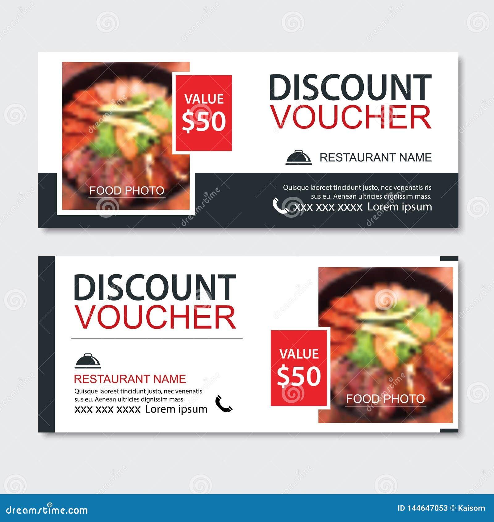 Discount Gift Voucher Asian Food Template Design  Korean And