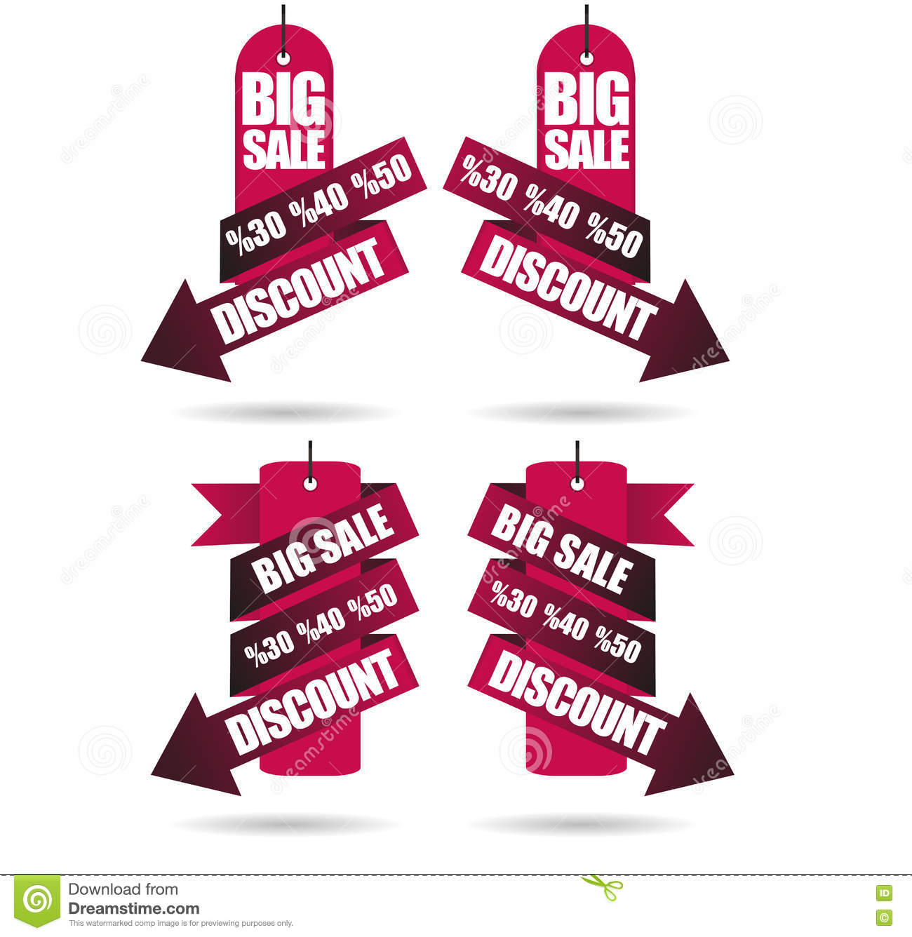 Discount Labels, Big Sale stock vector  Illustration of
