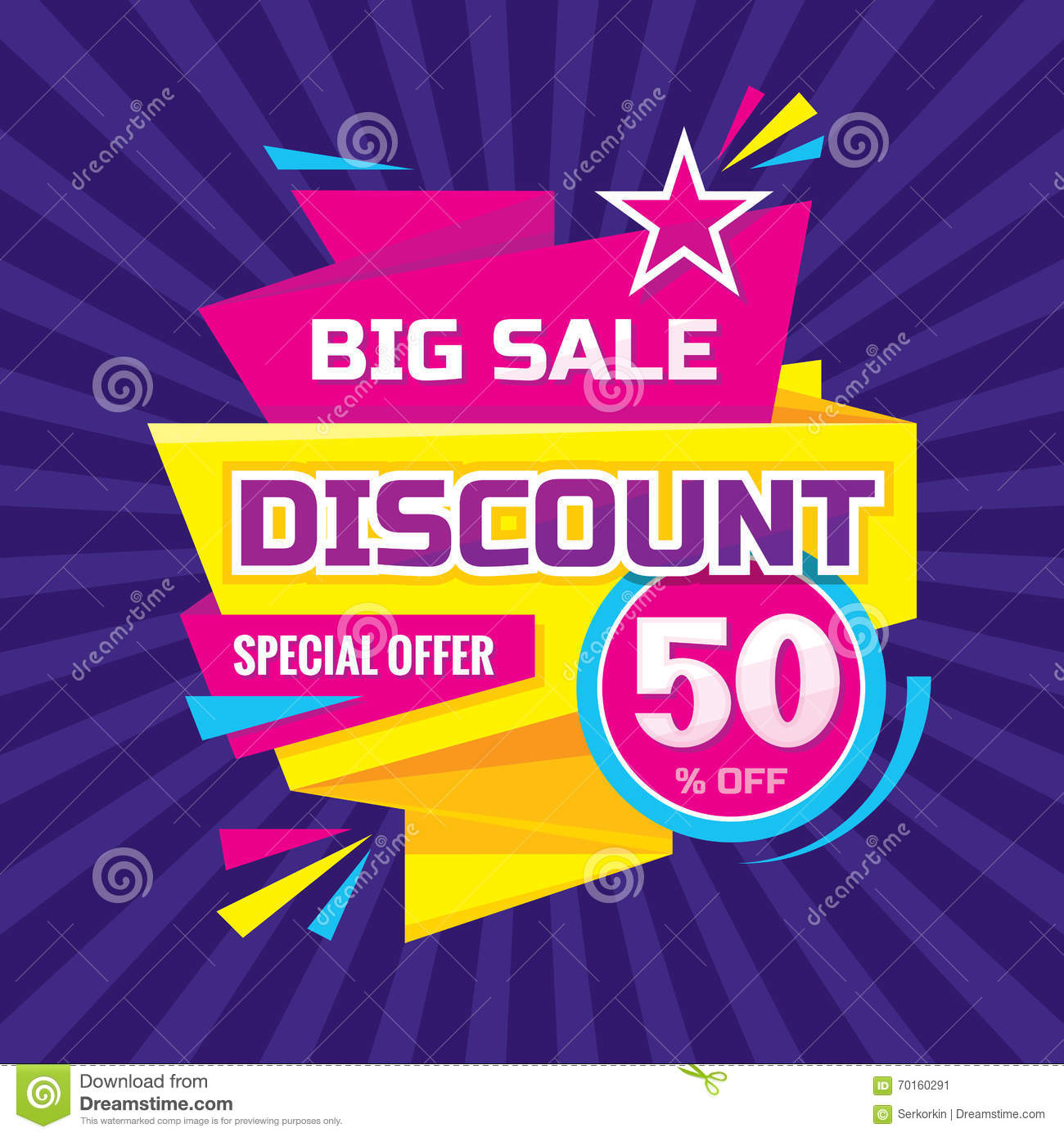 Discount Banner Sticker. Vector Vector Illustration ...