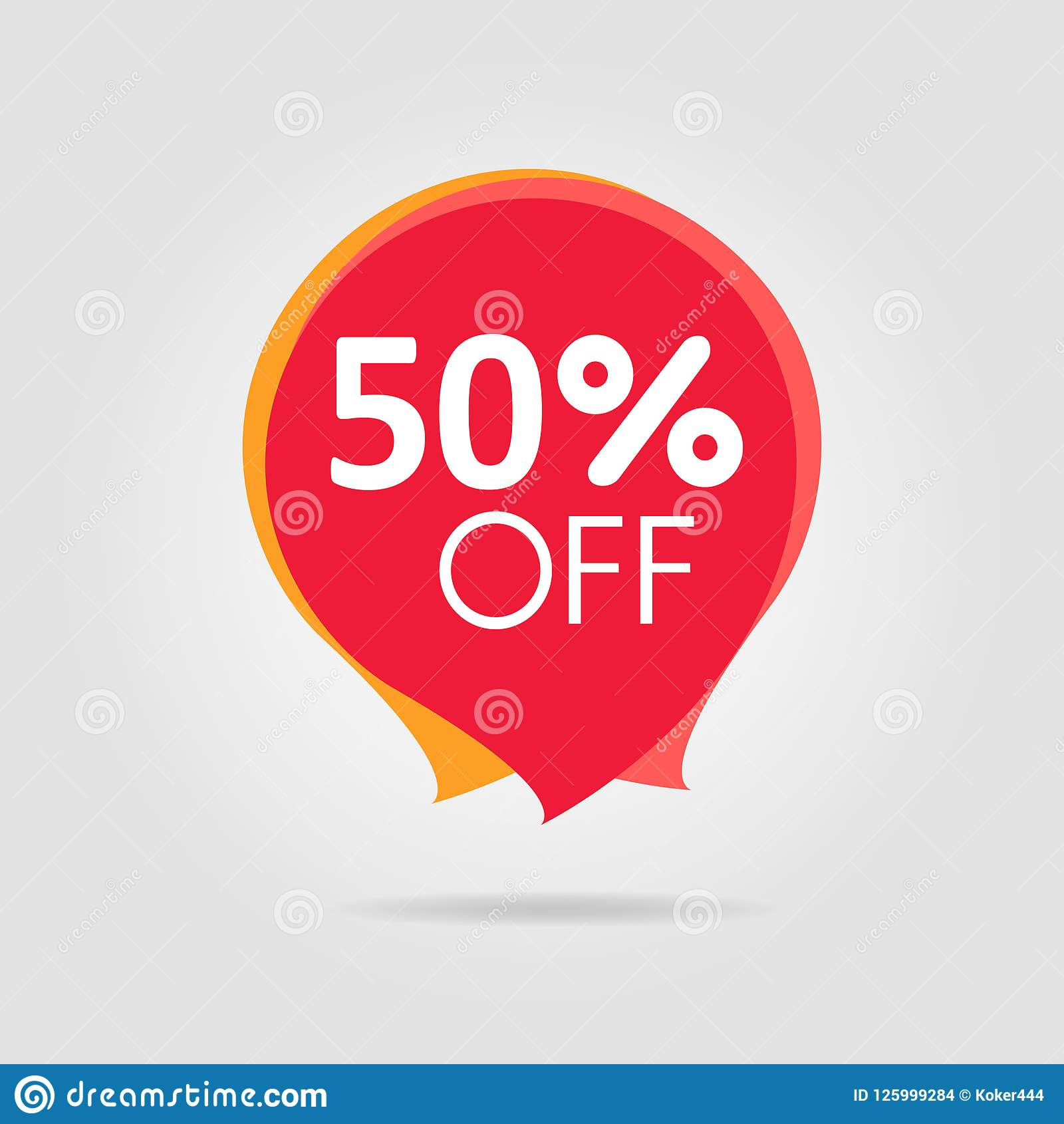 Discount offer price sticker, symbol for advertising campaign in retail