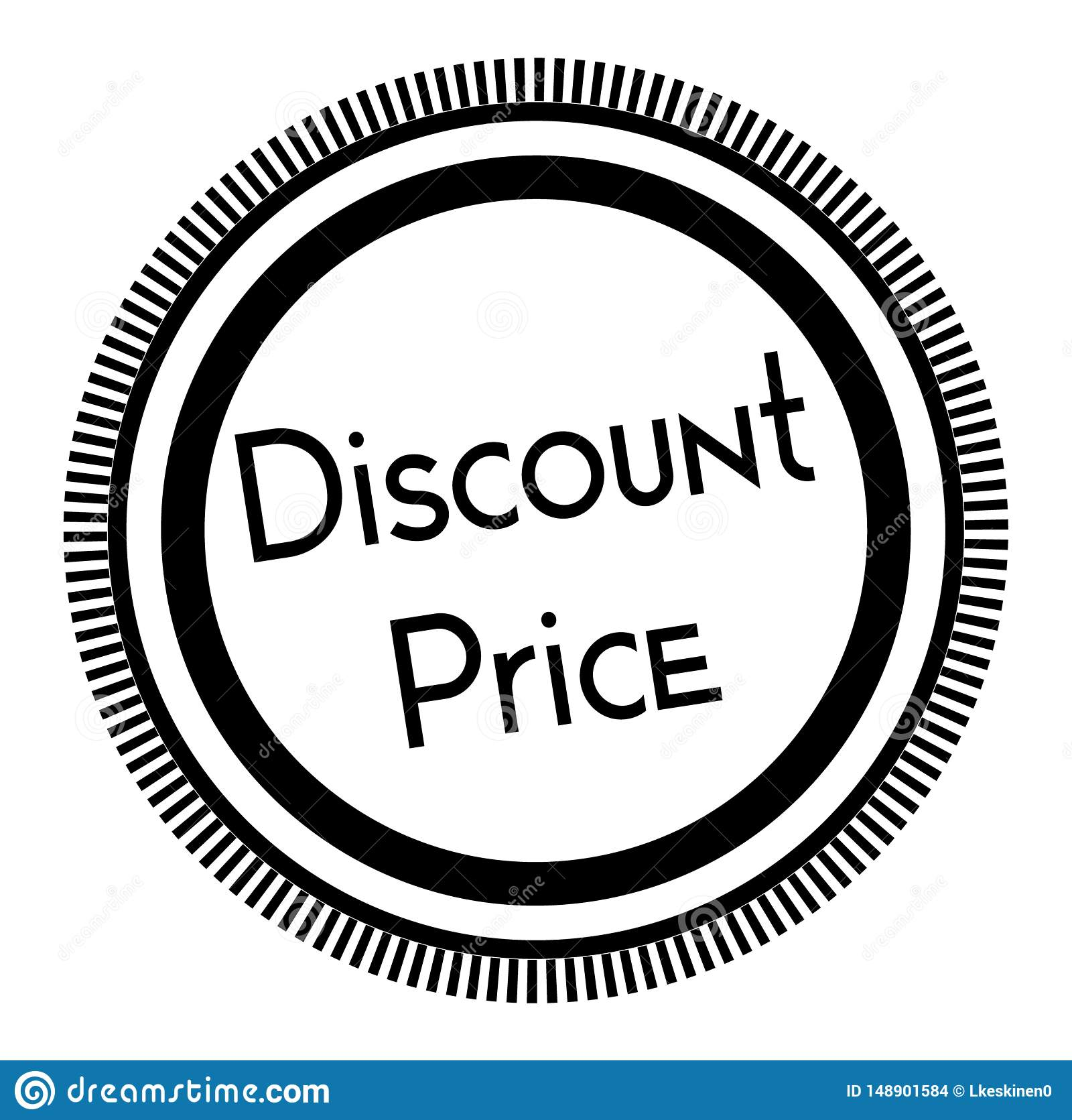 DISCOUNT PRICE stamp on white background