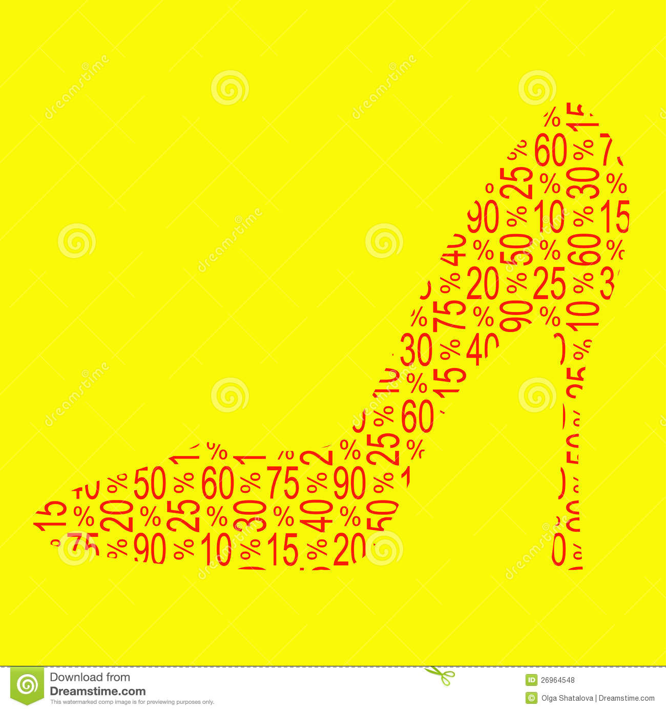 discount shoe sale royalty free stock photos