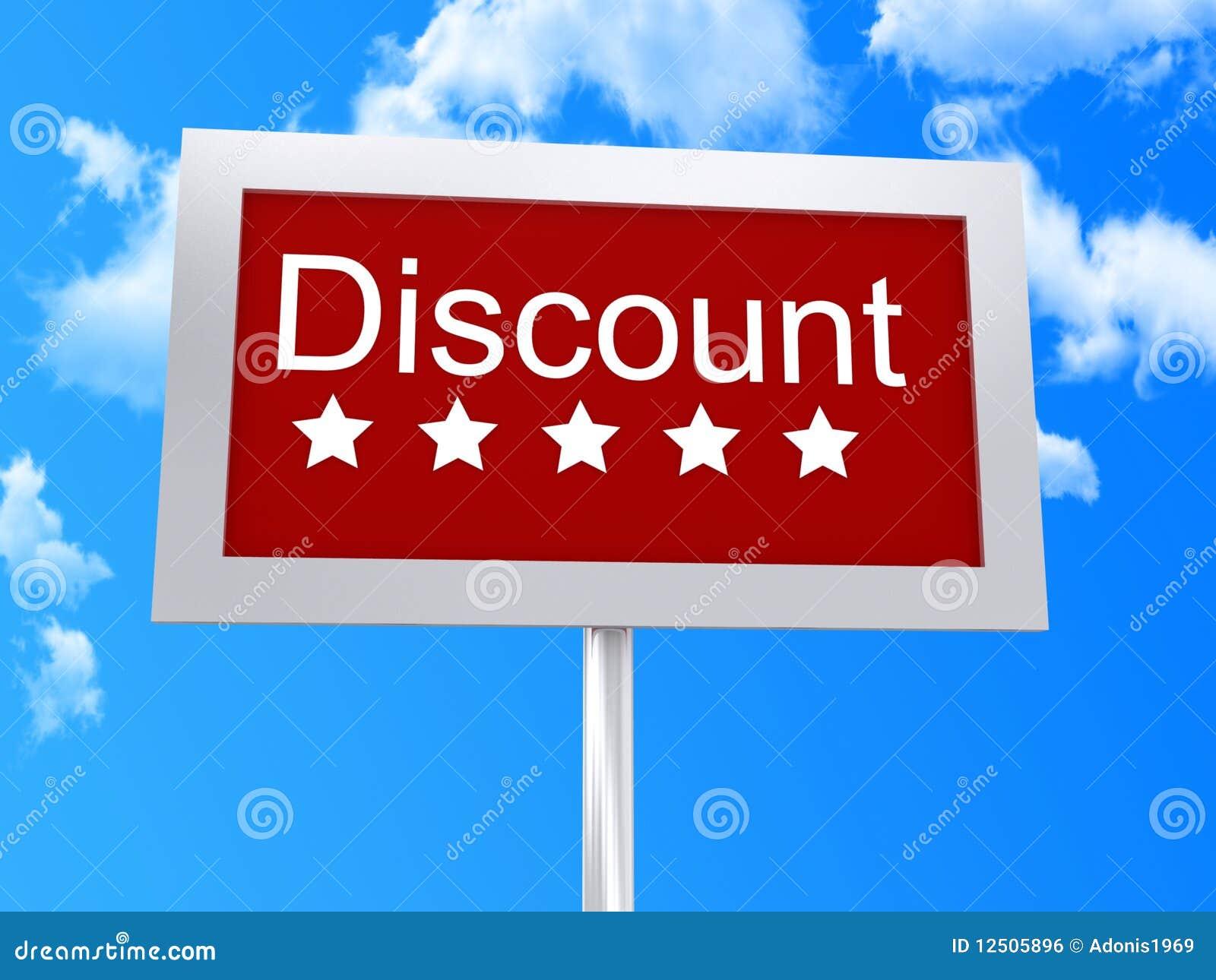 Discount signpost