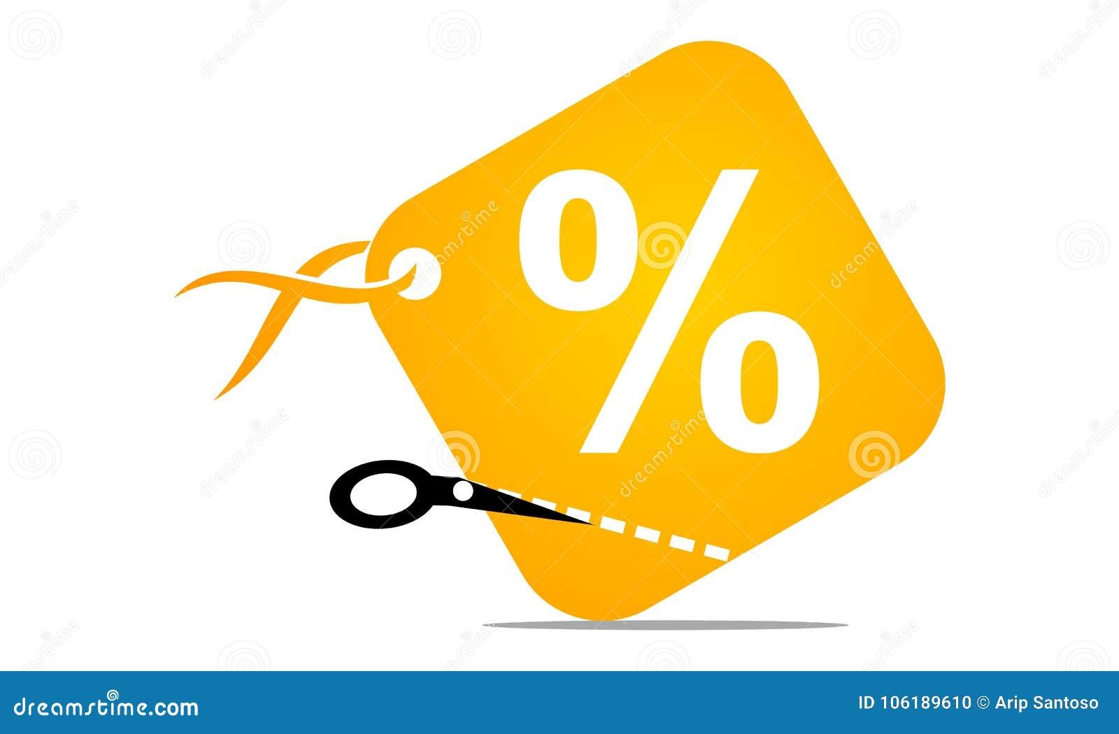 Discount Symbol Logo Design Template Stock Vector Illustration Of