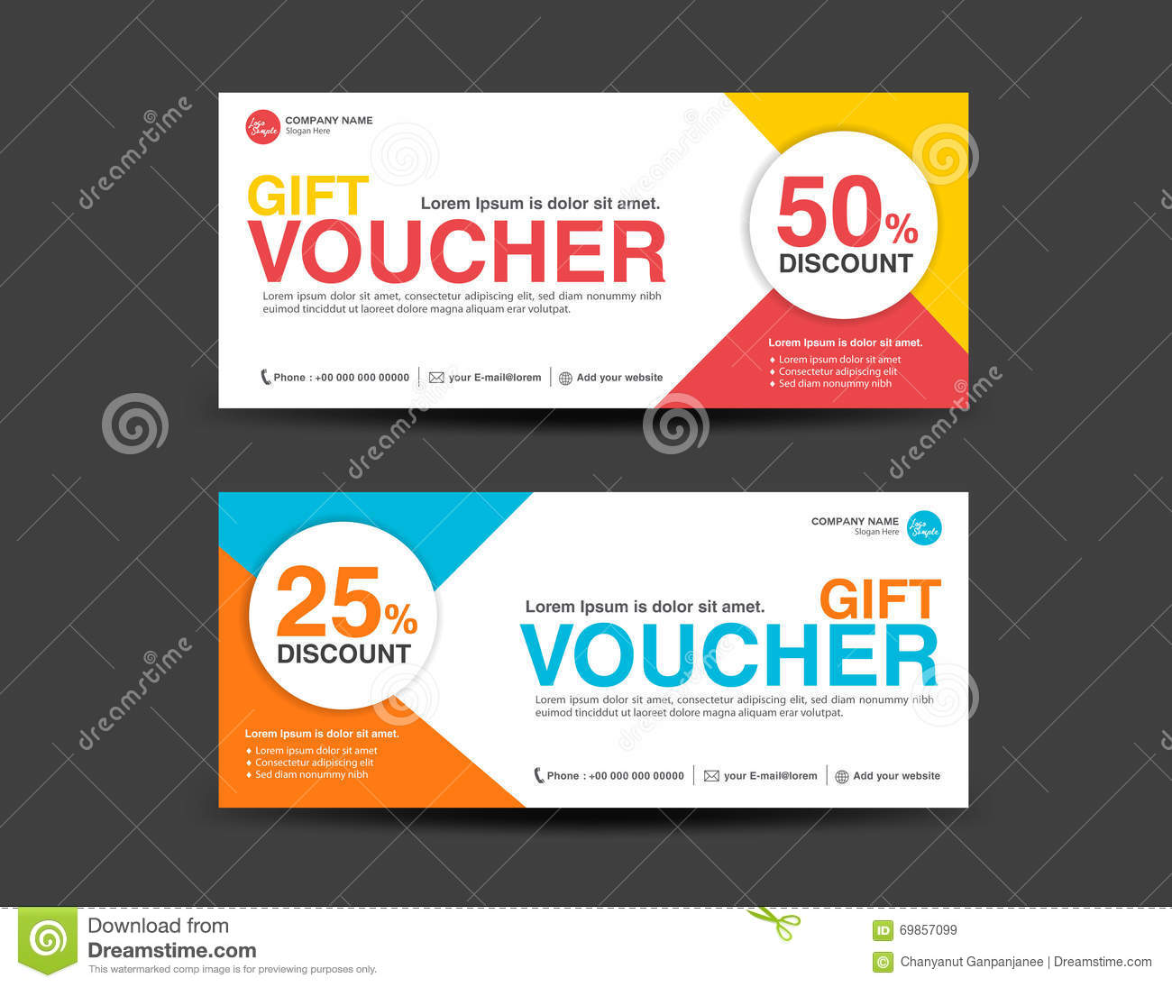 Discount Voucher Template, Coupon Design,ticket, Banner Template. Royalty  Free Vector  Free Printable Vouchers Templates