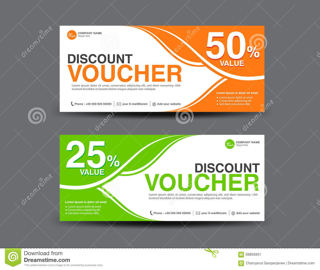 Discount coupon template