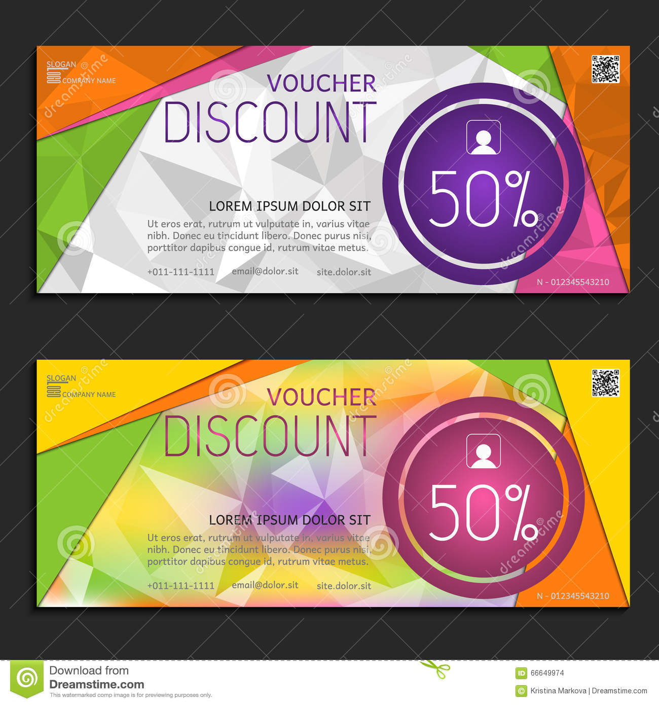 Discount Voucher Template, Cute Gift Voucher Certificate Coupon  Business Voucher Template