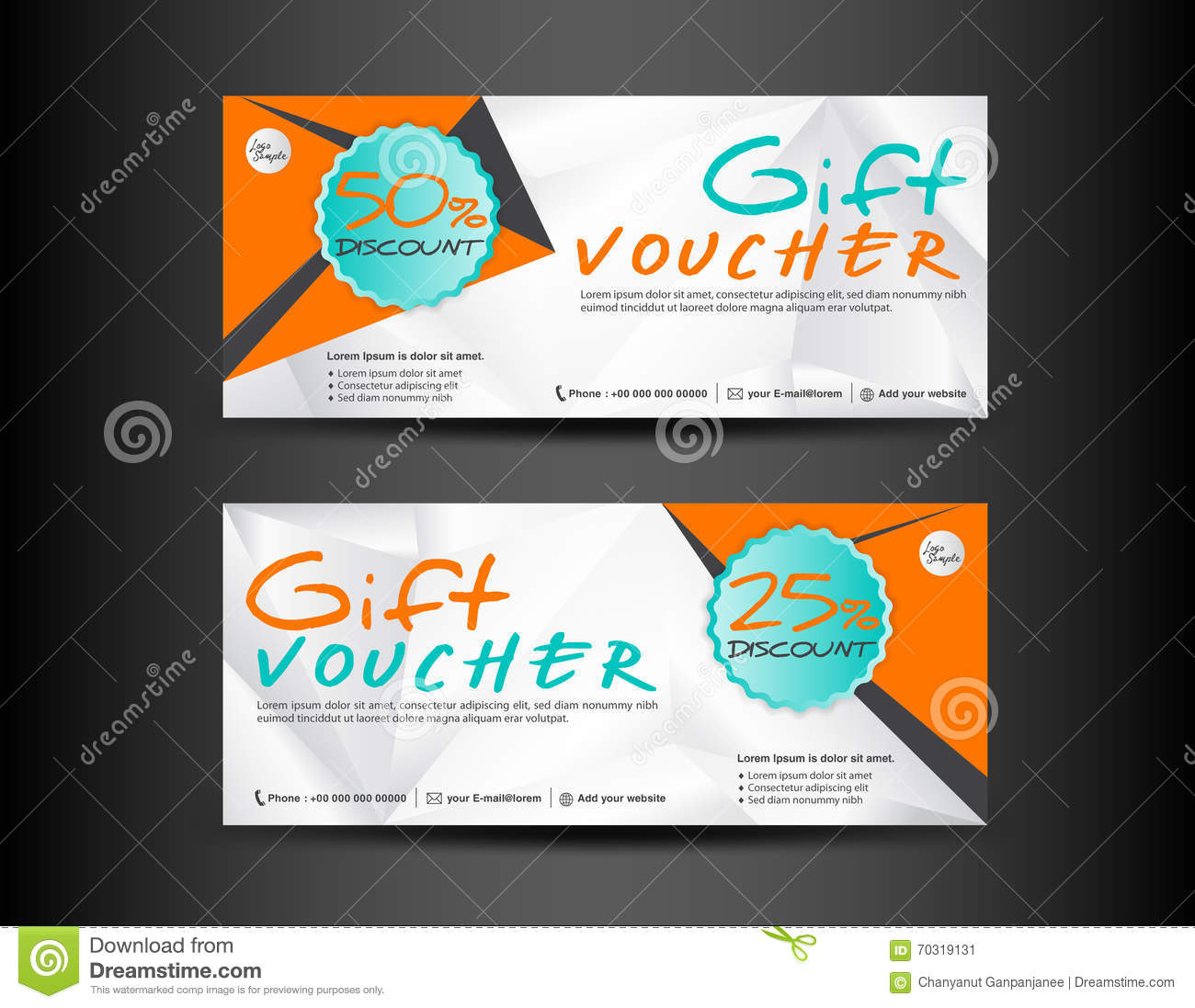 discount voucher template design banner template coupon design