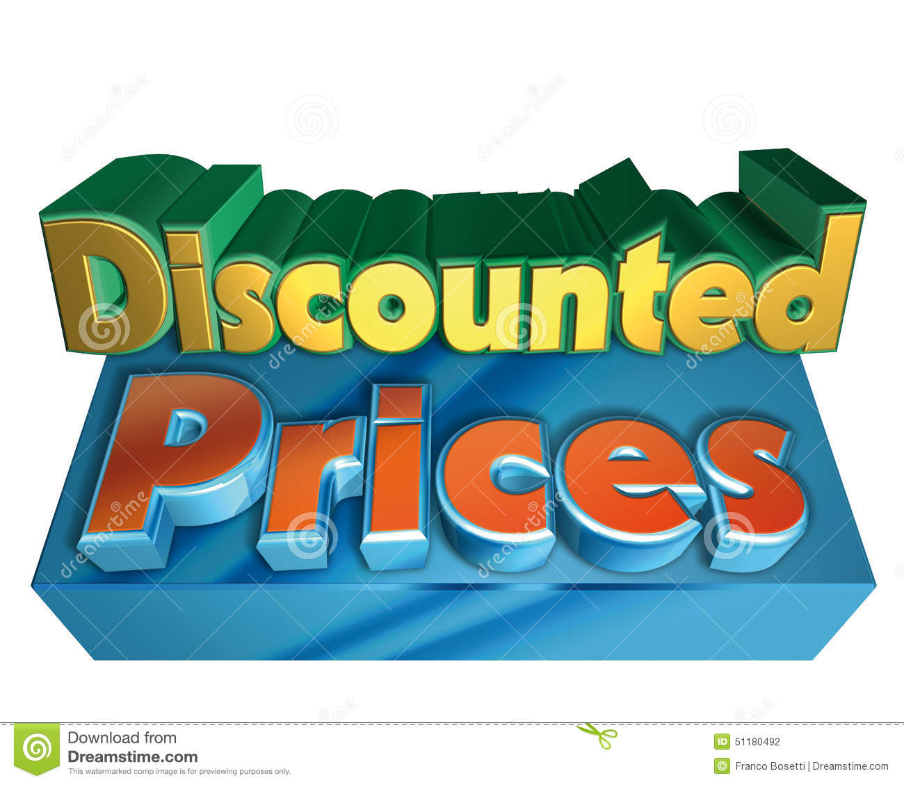 discounted prices stock illustration image 51180492