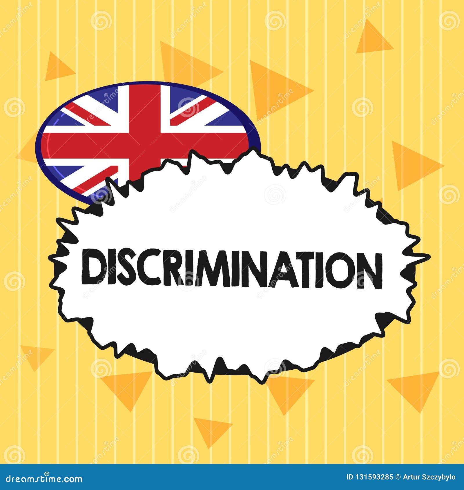 Discrimination des textes d écriture Traitement préjudiciable de signification de concept de différentes catégories de l apparenc