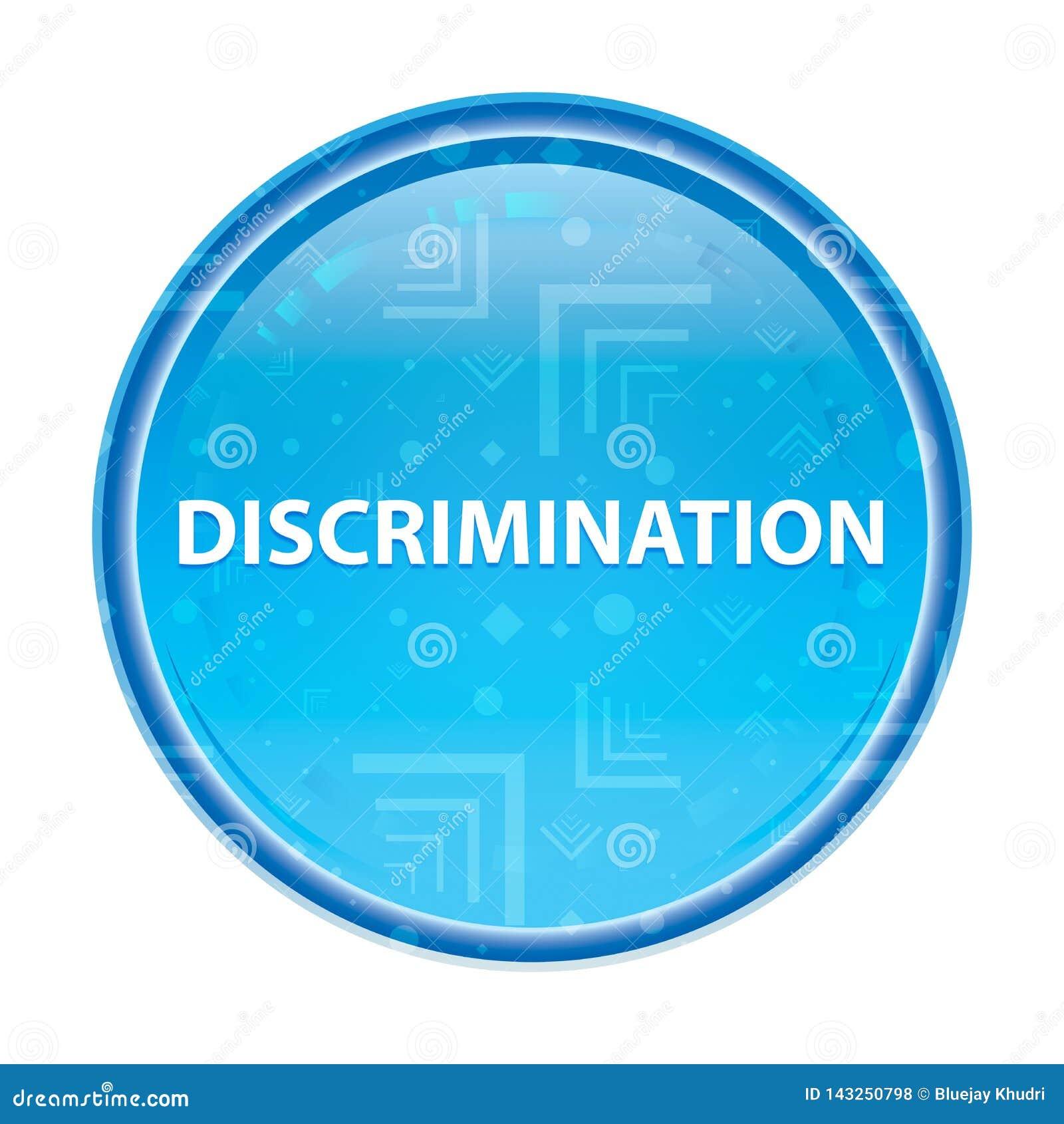 Discrimination floral blue round button