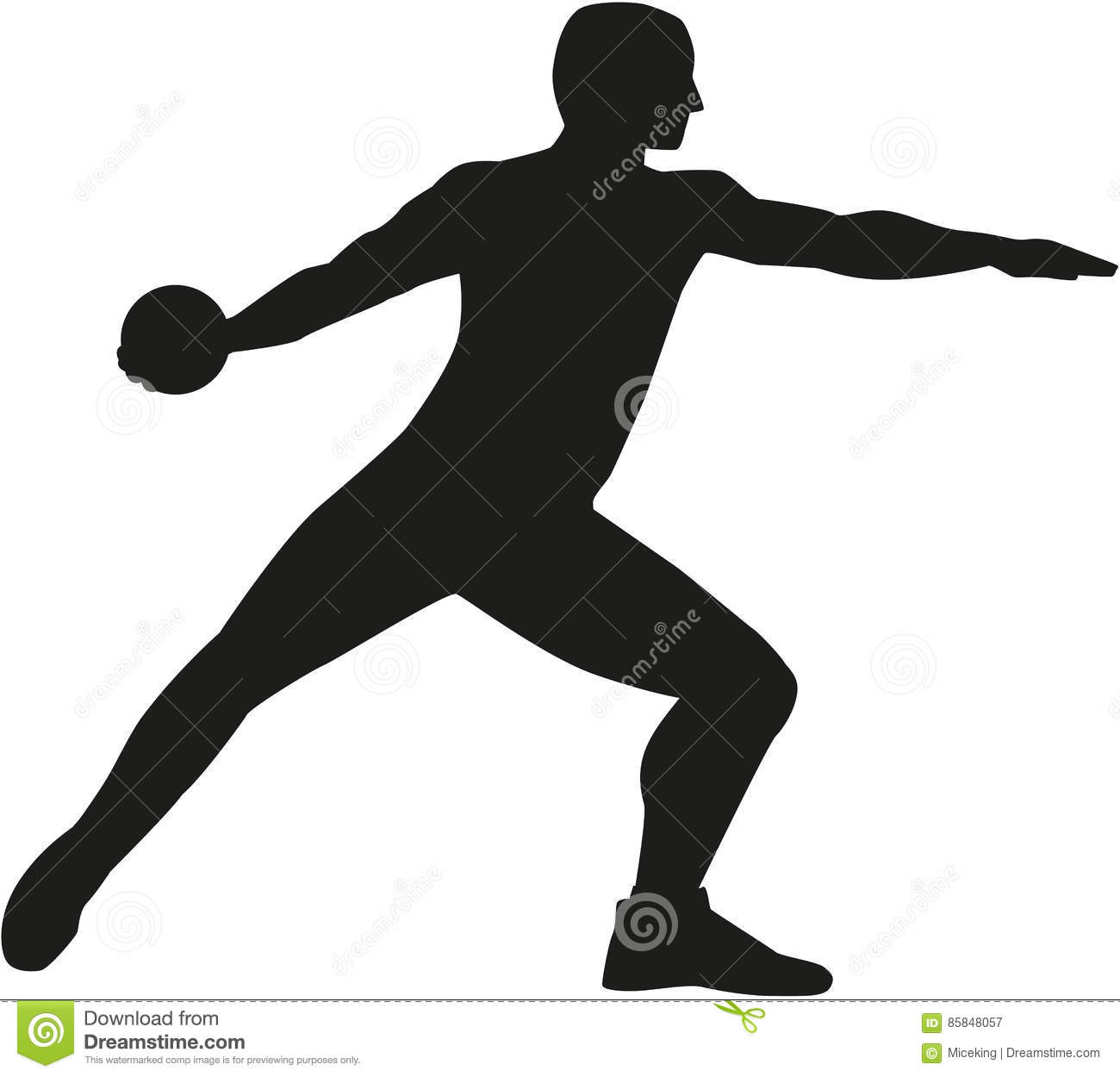 Discus thrower silhouette — Stock Vector © miceking #139143506 |Discus Thrower Silhouette