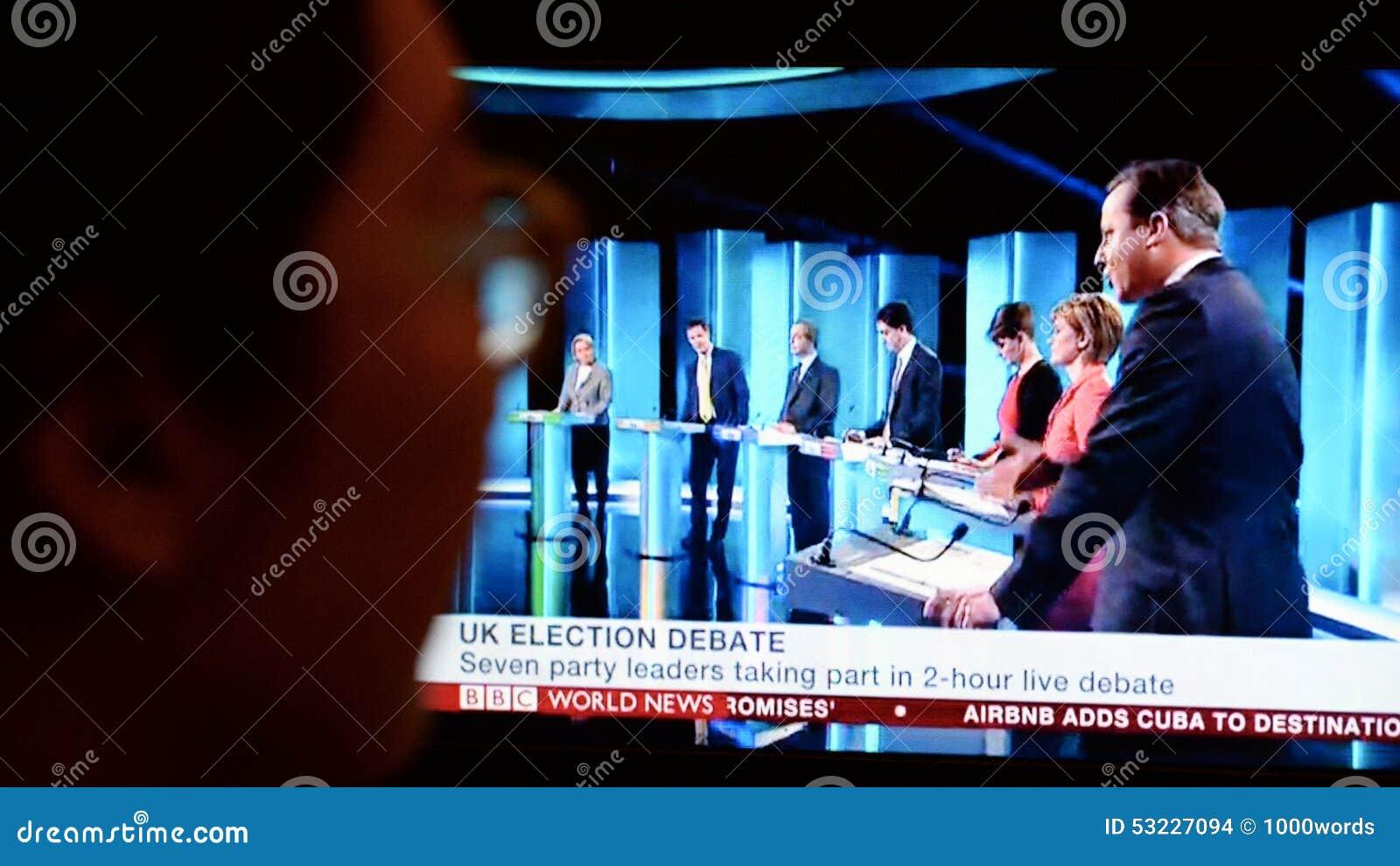 Discusión BRITÁNICO de la elección TV