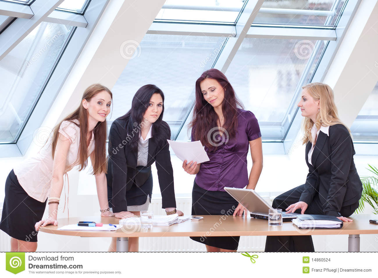 Discussing at the desk