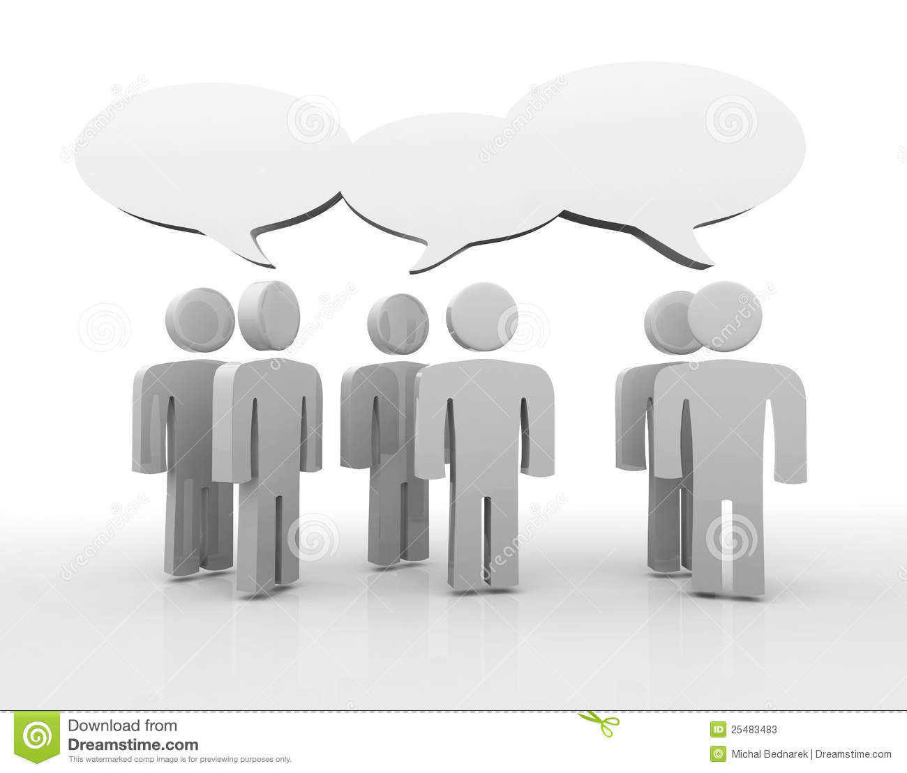 Discussion, Blank Speech Bubbles Stock Photos